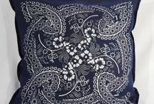 Blaudruck dekorative Kissen von Dilians / Dilians Kissen aus Blaudruck