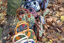 Handbedruckte Schultertaschen von Dilians / Dilians bags