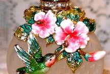Fragrance finery / perfume bottles.  Pin what you like.... no limits, no blocking. / by Connie Thompson