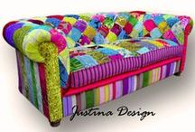 furniture all dressed up! / very colorful furniture fun!                                          / by Connie Thompson