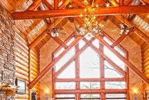 Great Rooms by Wisconsin Log Homes - National Design & Build - www.wisconsinloghomes.com