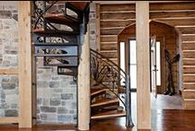 Staircases by Wisconsin Log Homes - National Design & Build Services - www.wisconsinloghomes.com / Staircases by Wisconsin Log Homes - National Design & Build Services - Log, Timber Frame & Hybrid Style Homes - www.wisconsinloghomes.com