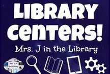Library Centers! / Library centers give students choice as they are learning in library class, and they help busy teacher-librarians and media specialists teach and manage with a fixed schedule.  Empower your students to research, read, and create while practicing information literacy / fluency skills!