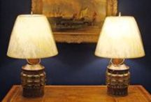Nautical Lamps, Lighting, Lamp shades & Lamp Finials- Nautical Coastal Home Decor / Create the perfect lighting for your coastal home- interior and outdoor living spaces too! Skipjack's lamp and lighting features authentic ship lights and custom made lamps and lamp shades.