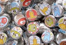 Candy Labels / These kiss candy stickers make for the most fun treats and gifts, or even party food.  Just stick them on your own candy.    / by Anns Craft House