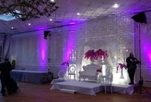 Event Lighting / Lighting installed by PartyTime Rentals. Let us turn your event space into something magical! http://partytime-rentals.com/product-category/audio-visual/lighting/