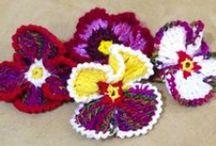 вязанные цветы / вязанные цветы крючком