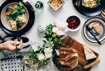{ Dining table setup } / Inspiration pour décoration table, centre de table , service de table....!
