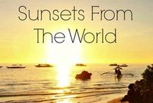 Sunsets From The Wolrd / Stunning Sunsets From All Around the World. Places we visited, loved or want to go! http://loveandroad.com/