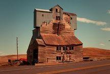 Buildings: houses, shacks, barns etc