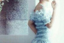 Sky color dress