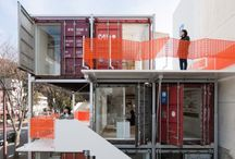 Container homes / Container, shipping, minimalist, small places, moveable, adjustable