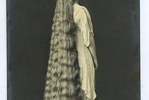 long hair / Victorian women with Extremely long hair. Victorian women never cut their hair.