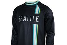 Men's Seattle Running Shirts - Run Seattle Run Collection / Performance men's running shirts, jackets and hats featuring Seattle graphics and colors on quality technical fabrics.