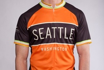 Men's Seattle and Washington Cycling Jerseys / Kaidel Sportswear's cycling jerseys celebrating riding in Washington state. Designs feature Seattle, the Space Needle, Tacoma, Bellingham, the San Juan Islands, Bainbridge Island and more.