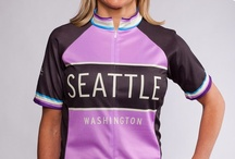 Women's Seattle and Washington Cycling Jerseys / Kaidel Sportswear's cycling jerseys celebrating riding in Washington state. Feminine fit with designs featuring Seattle, the Space Needle, Tacoma, Bellingham, the San Juan Islands, Bainbridge Island and more.