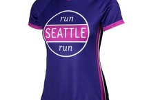 Women's Seattle Running Tops / Performance women's running tops, jackets and hats featuring Seattle designs in vibrant colors on technical fabrics.
