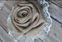 Papierové a textilné kvety/ Paper and fabric flowers