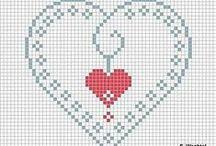 Cross Stitch Corazones