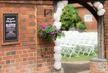 Outdoor Wedding Venue / Outdoor ceremonies in the Cloister Garden at Lillibrooke Manor