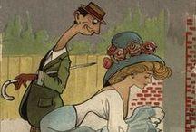 Clare Victor Dwiggins aka Dwigs / American cartoonist and card illustrator  1873 -1958