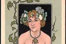 Art Nouveau / Art Nouveau (most popular from 1890-1910) was inspired by the Arts and Crafts