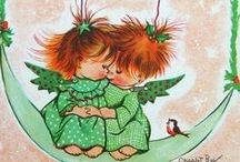 Charlot Byj / American illustrator ( ?-1983 ).  I love the red-haired ones, Shabby O'Hair, his sister Raggy Muffin, their plump mother, M'Lady O'Hair ,and Gabriel ,the mischievous Cherub ..