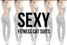 Sexy Fitness Cat Suits