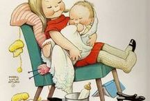 Mabel Lucy Attwell -1 of 3 / Mabel Lucie Attwell (4 June 1879 – 5 November 1964) was a British illustrator. Her drawings are featured on many postcards, advertisements, posters, books and figurines.