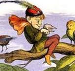 "Richard Doyle /  .1824 - 1883 .British illustrator , caricaturist and painter . Doyle signed many of his drawings with the depiction of a small bird standing on the initials 'RD', a reference to his nickname ""Dickie"" (as in ""dickie bird"")."