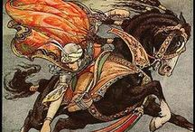 Frank Cheyne Papé / July 4 , 1878 - May 5 ,1972 . English artist and book illustrator.