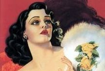 Retro Posters and Pin-ups / Women illustrated by Rolf Armstrong, Billy Devorss, Alberto Vargas ,Peter Driben, Pearl Frush, Donald Rust, Gil Elvgren, Earl Moran etc