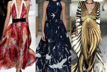 Printed flowing gown