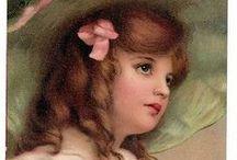 Fr. Brundage girls 1 / Frances Isabelle Lockwood Brundage (1854–1937) was an American illustrator of  children on postcards, valentines, calendars, and other ephemera.