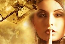 My Fantasy Novels, Novellas, & Short Stories / If you're a fan of heroic adventure fantasy, steampunk, and geeky heroines, check out my stories. Click the cover art pictures for excerpts. The ebooks for  Emperor's Edge (Bk 1) and Flash Gold (a steampunk novella) are free.