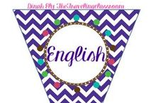 English / by Dinah Ely The Traveling Classroom