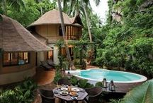 Rayavadee Resort, Krabi, Thailand / Rayavadee is a stunning 5 star resort that is edged by the famous Railay Beach and the quieter Phranang Beach, lush jungle and an awe inspiring cliff face.  Its the perfect spot from which to the beauty of Krabi, recharging life-weary senses with its natural beauty, wildlife, incredible service, extensive facilities and gorgeous accommodation.