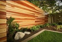 Wood Fences / Surrounding your yard with a wood fence brings a feeling of richness and warmth to your outdoor space while giving you the peace of mind that comes with the strength and durability of real wood. The design options for your fence are endless, so you're sure to find something that fits the aesthetic of your home.