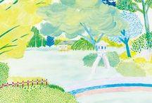 Landscape & Buildings illustration / Illustration of beautiful landscape.