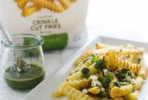 Yukon Gold Fry Recipes / Our Yukon Gold Select Fries are lightly seasoned with sea salt. Perfect as a side dish or snack, try these flavorful recipes..  / by Alexia Foods