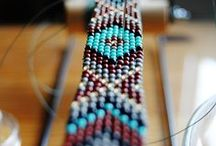 Native American bracelet and belt / The pattern can also be used in friendships bracelets