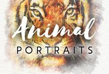 Animal Portraits / Don't you love animals? These animal portraits are incredible! If you want pet portraits from photos, order here ➡ http://drawberry.com/orders/add