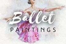 Ballet paintings / Ballet dancers have always inspired painters from around the world. Drawberry has found the most incredible ballet-themed paintings!