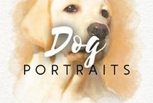 Dog portraits / How would your pet look on canvas? You can order a custom dog portrait here ➡ http://drawberry.com/orders/add