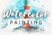 Watercolor Painting / This board is all about watercolor paintings. Drawberry is the place to go when you need to convert photo to watercolor painting ➡ https://www.drawberry.com/land/v_4/