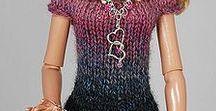 bábiky-pletené modely