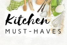 Kitchen must-haves / Check out these kitchen must-haves. Drawberry is sure that some of these great ideas will make your cooking process easier and add some fun!