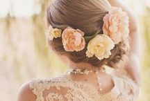 Bridal Hair / Inspiration for a stunning updo on your wedding day! What look are you going for? Elegant, romantic, vintage, chic, side swept ... or buns, braids, finger waves and curls ... with flowers or bling? A veil or headpiece? So much to choice from! Let us help you make it easy ... Book your hair trial with Lauren Stefan today! ♥ www.laurenstefan.com