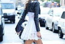 Leather & Lace / Oh how I love everything leather and lace!!!