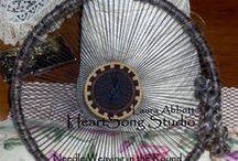 Circular Weaving by HeartSong Studio / Needle Weaving in the Round, on a Knitting Loom, and more from Laura Abbott at HeartSong Studio